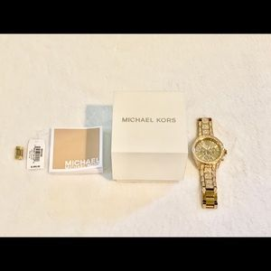 All stainless steel Michael Kors watch
